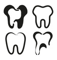 set dental icons vector image vector image