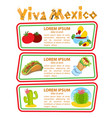 set of banners with traditional mexican dishes vector image