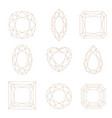 set of polygonal frame frame border with copy vector image