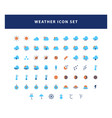 set weather icon with flat style design vector image