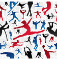 Sports silhouettes pattern vector image vector image