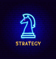 strategy neon label vector image vector image