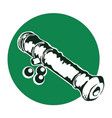 stylized image an old naval gun vector image vector image