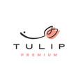 tulip flower logo icon vector image