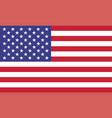 usa flag official colors and proportion correctly vector image