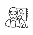 veterinarian - line design single isolated vector image