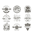 Vintage car service badges garage repair labels vector image