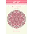 Vintage pink ornament background vector image vector image
