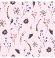 Vintage Seamless Background with Wildflowers vector image vector image