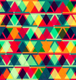 vintage triangle seamless texture vector image vector image