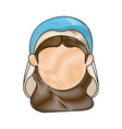 virgin mary manger character design vector image vector image