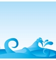 waves pattern background sea vector image