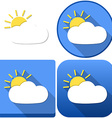 Weather Sun Behind Cloud Icon Pack vector image vector image
