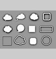 white speech clouds and frames on grey vector image vector image