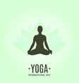 yoga colorful fitness concept vector image vector image