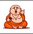 fat buddha shows a gesture call me vector image