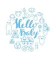 Baby shower celebration greeting and invitation vector image