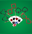 casino party cards dibs vector image