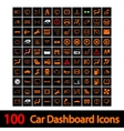 100 Car Dashboard Icons