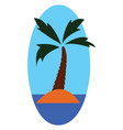 a palm tree or color vector image