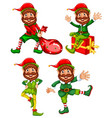 a set of christmas elf vector image