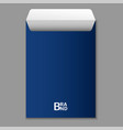 a4 blue envelope icon realistic style vector image