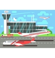 Airport flat vector image