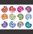 anniversary modern tag and stickers collection 25 vector image