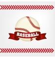 baseball bal ribbon vector image vector image