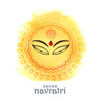 beautiful maa durga goddess eyes for navratri vector image