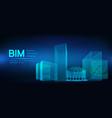 bim - building information modeling vector image