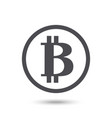 bitcoin icon isolated vector image vector image