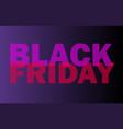 black friday sale flyer promo sign vector image