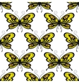 Bright colored butterflies seamless pattern vector image vector image