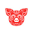 chinese new year pig vector image vector image