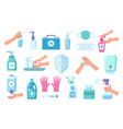cleaning disinfection set antiseptic disinfects vector image