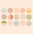 colorful circle textures made with ink vector image