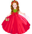 cute christmas princess vector image