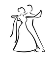 Dancing couple isolated silhouette vector image vector image