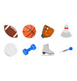 different kinds of sports icons in set collection vector image vector image