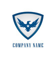eagle shield logo vector image