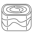ebi sushi icon outline style vector image vector image