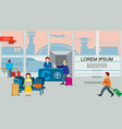 flat airport colorful background vector image vector image