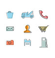 flat thin line business icons vector image vector image