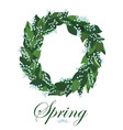 floral wreath with lilies of the valley spring vector image vector image