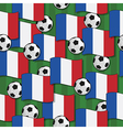 france football pattern vector image vector image