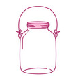 full color middle mason glass with wire handle vector image vector image