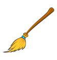 halloween broomstick symbol icon design vector image vector image