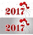 happy new year 2017 background year of the vector image