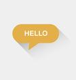 Hello speech bubble vector image